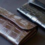 最強の大型長財布 WILD SWANS Croco WAVE