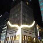 BVLGARI銀座タワーXmasイルミ点灯中!