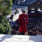 鎌倉の鶴岡八幡宮の警備員の衣装は帝都大戦とサイボーグ009と赤い彗星シャーを足して3で割ってると思うんですが。