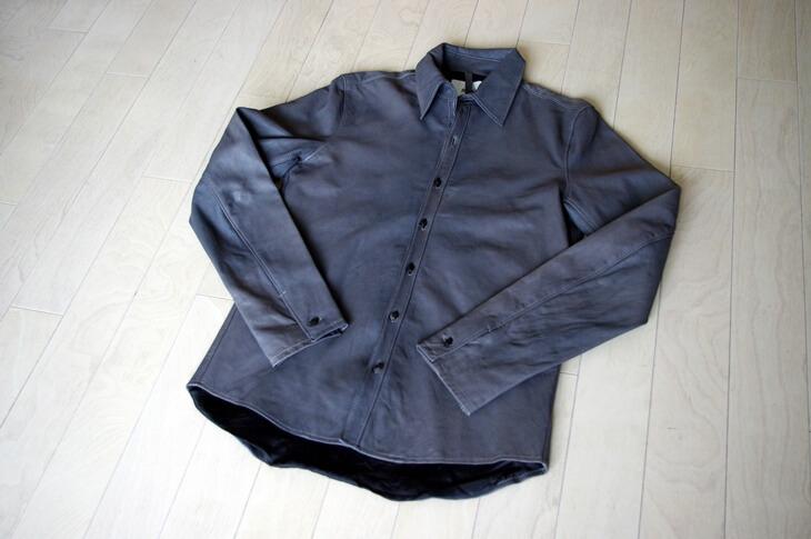 リップ・ヴァン・ウィンクル レザーシャツ (2)