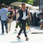 昨年2012年6月のPITTI UOMOベスト伊達男はこの男でござる。