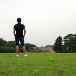 ユニクロを着て江戸城本丸御殿の大奥対面所に立つ。