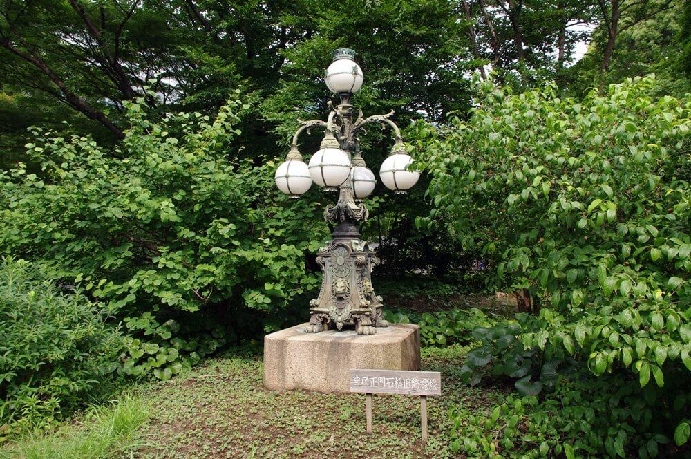 皇居 江戸城 皇居正門石橋旧飾電燈