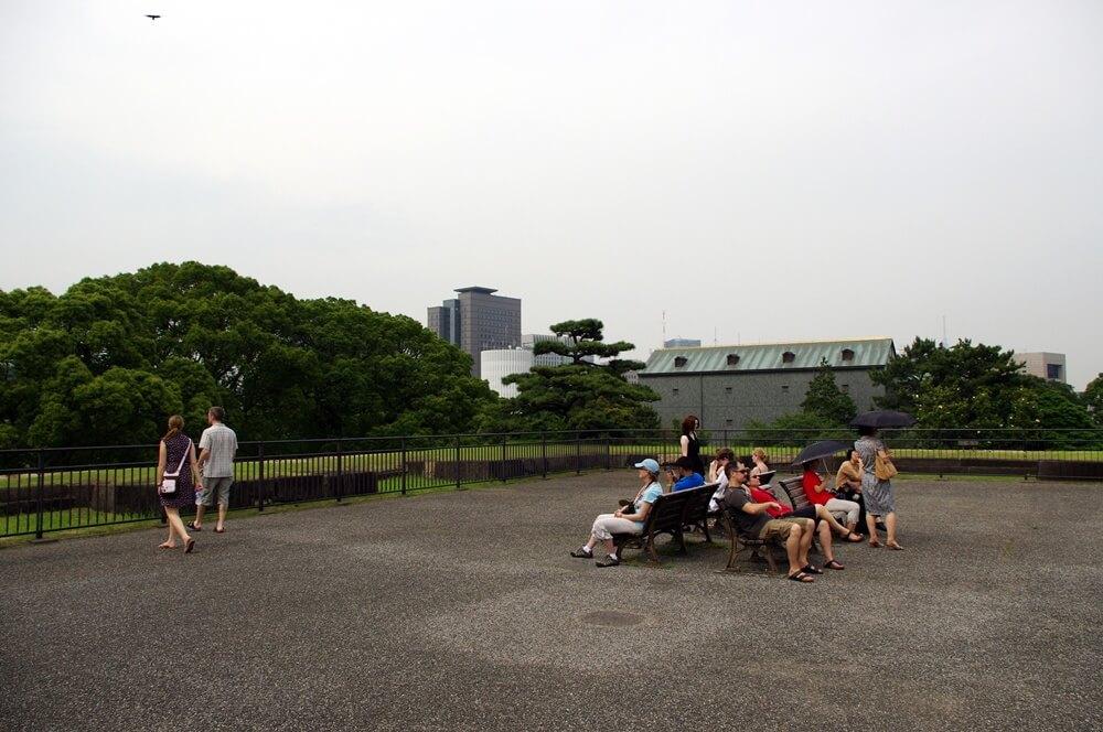 皇居 江戸城 天守台 頂上
