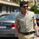 イタリア人に見る半袖シャツのカッコいい着こなし方、って言うかイタリア人でも半袖シャツ着る人いるんですね(滝汗)