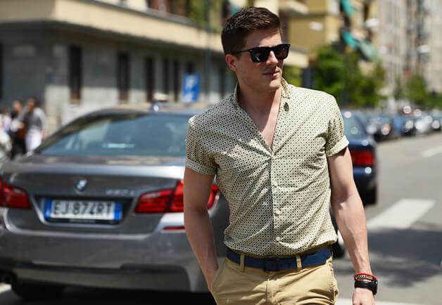 プリント半袖シャツのちょうどいい腕の丈