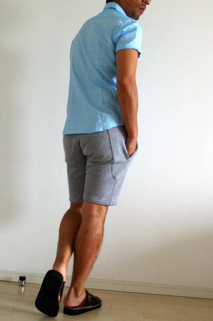エディフィス カッタウェイ 白 半袖シャツ EDIFICE x MONTI (1)