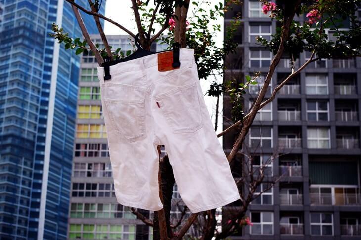 白いパンツは毎回洗う