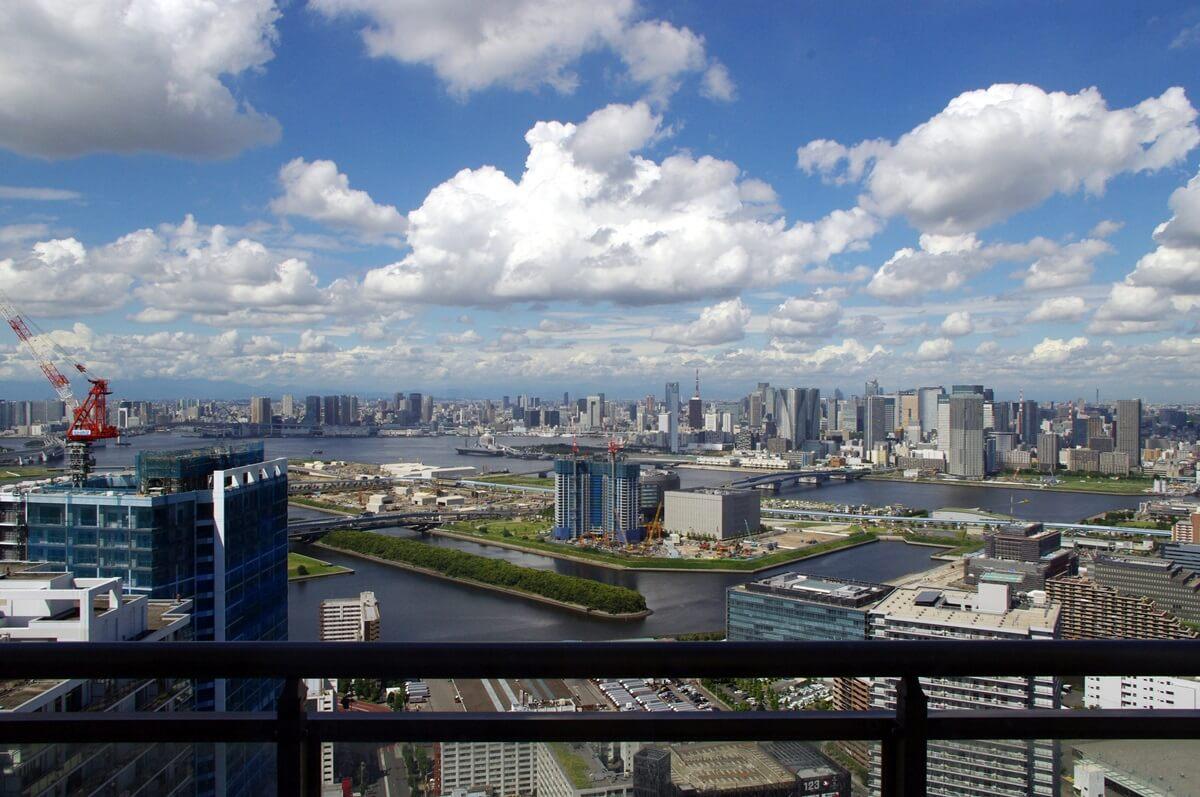 東雲のタワーマンションからの都心部の眺望 (2)