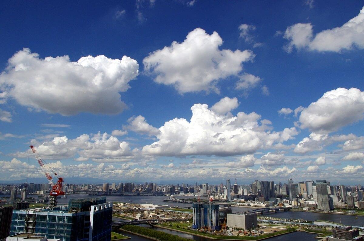 東雲のタワーマンションから雲の眺望 (5)