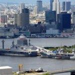 晴海埠頭に停泊している米海軍をパトロール。