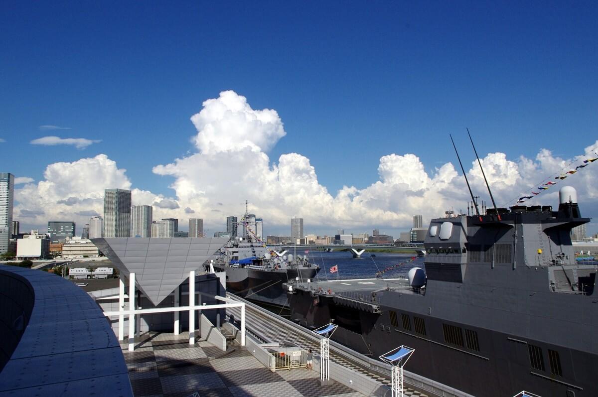 晴海埠頭ターミナルに停泊する米海軍護衛艦 (16)
