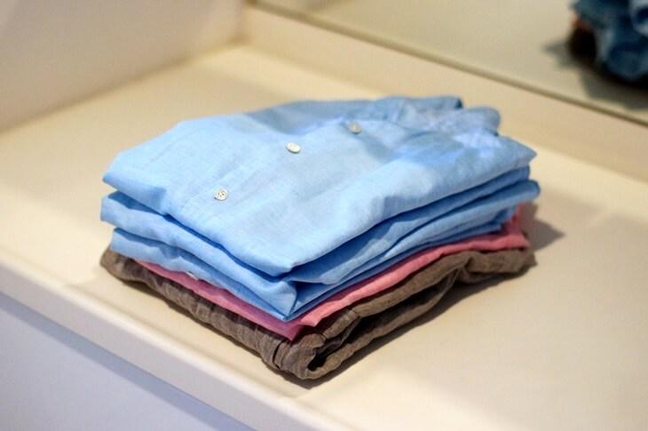 麻混シャツ linen_shirt