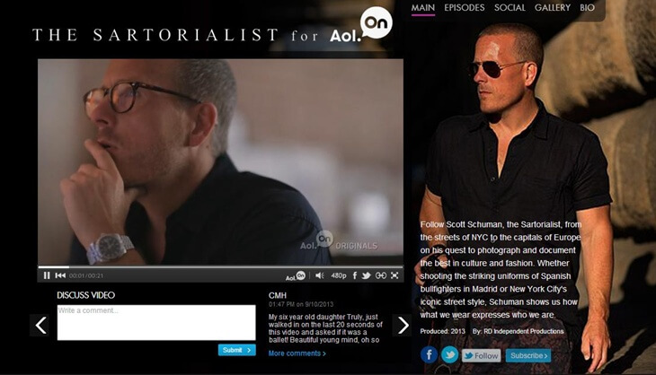 the sartorialist for aol