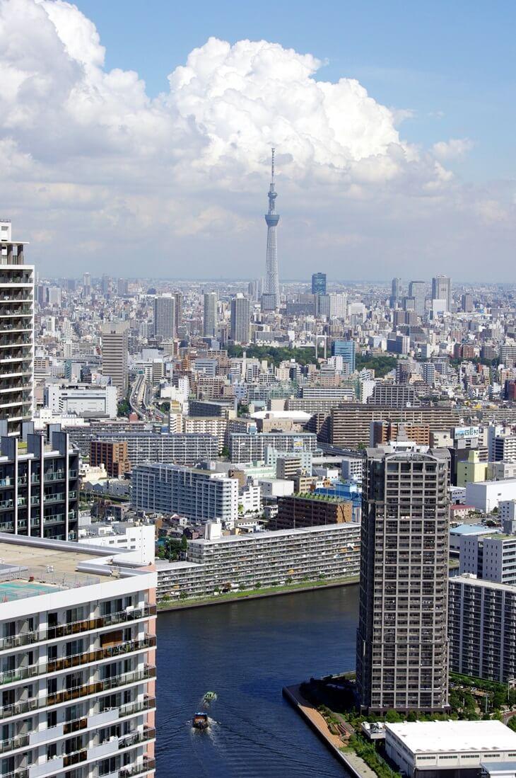 都内屈指の絶景ポイント:東雲のタワーマンション180mから見る東京スカイツリー  tokyo sky tree  from shinonome  tower manshion (1)