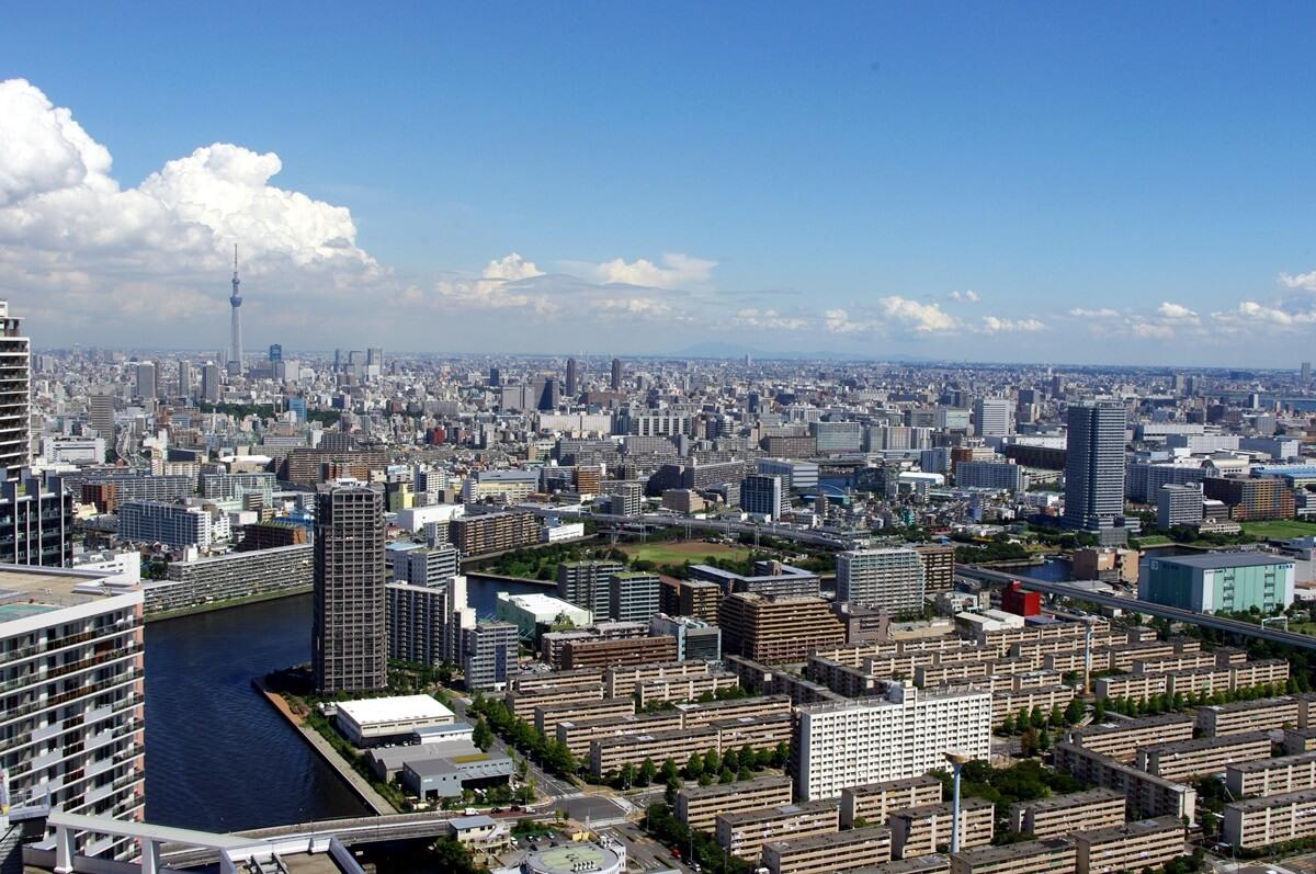 都内屈指の絶景ポイント:東雲のタワーマンション180mから見る東京スカイツリー  tokyo sky tree  from shinonome  tower manshion (11)