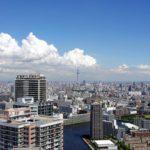 2013年初秋、祝!東京五輪。そして、東雲のタワーマンション180mから見る東京スカイツリー。