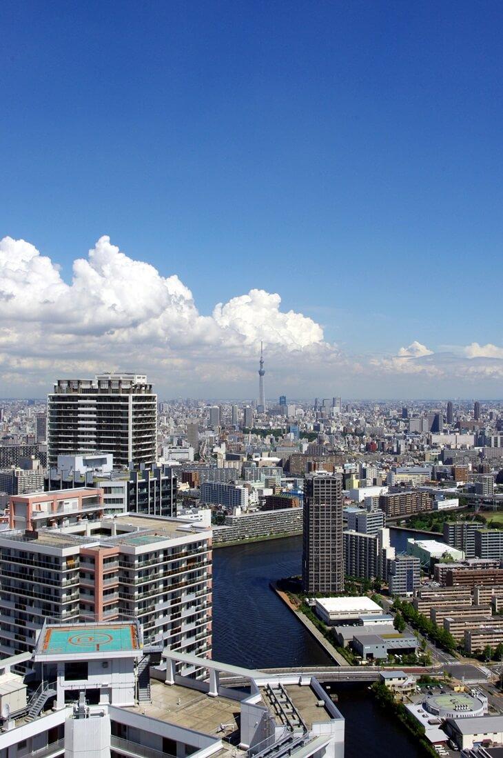 都内屈指の絶景ポイント:東雲のタワーマンション180mから見る東京スカイツリー  tokyo sky tree  from shinonome  tower manshion (6)