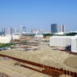 2015年築地から移転予定の豊洲新市場はただ今土壌汚染対策工事の真っ最中。