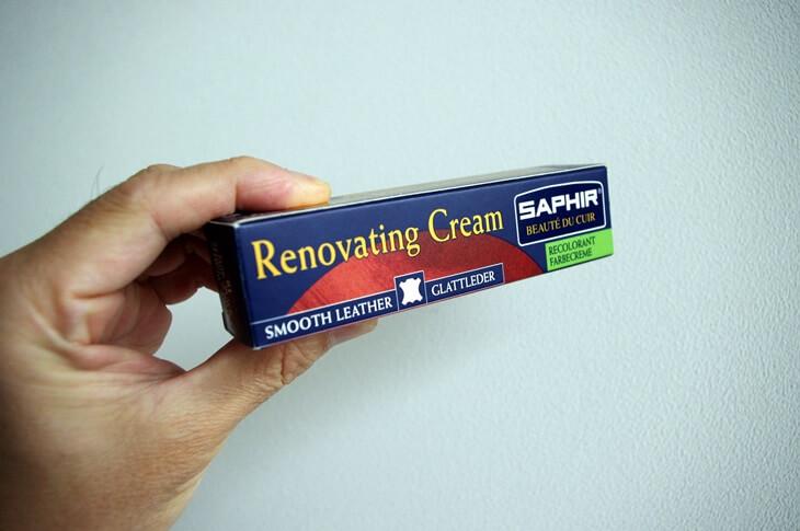 ヘルツ トートバッグ カラー着色補修クリーム 色落ち サフィール 色修正クリーム SAHIR renoveting cream x HERZ (1)