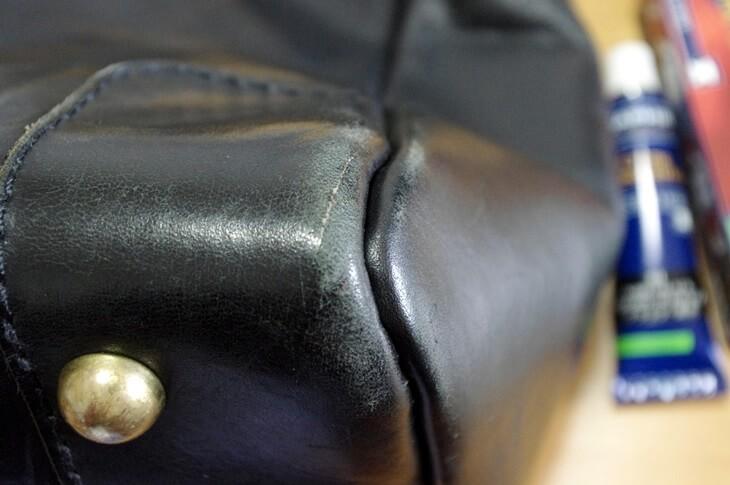 ヘルツ トートバッグ カラー着色補修クリーム 色落ち サフィール 色修正クリーム SAHIR renoveting cream x HERZ