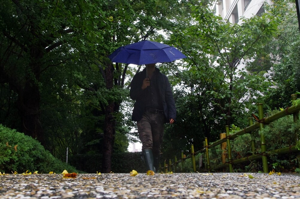 雨の日はユニクロのカーゴパンツとルシャモーのレインブーツ (3)