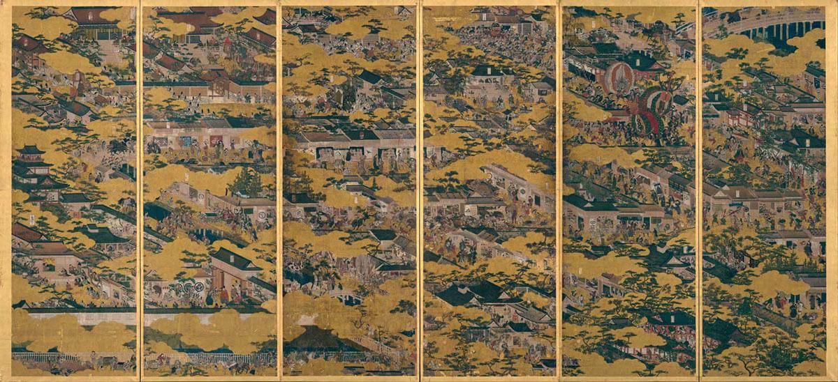 洛中洛外図屏風 舟木本 左隻  岩佐又兵衛筆 江戸時代・17世紀