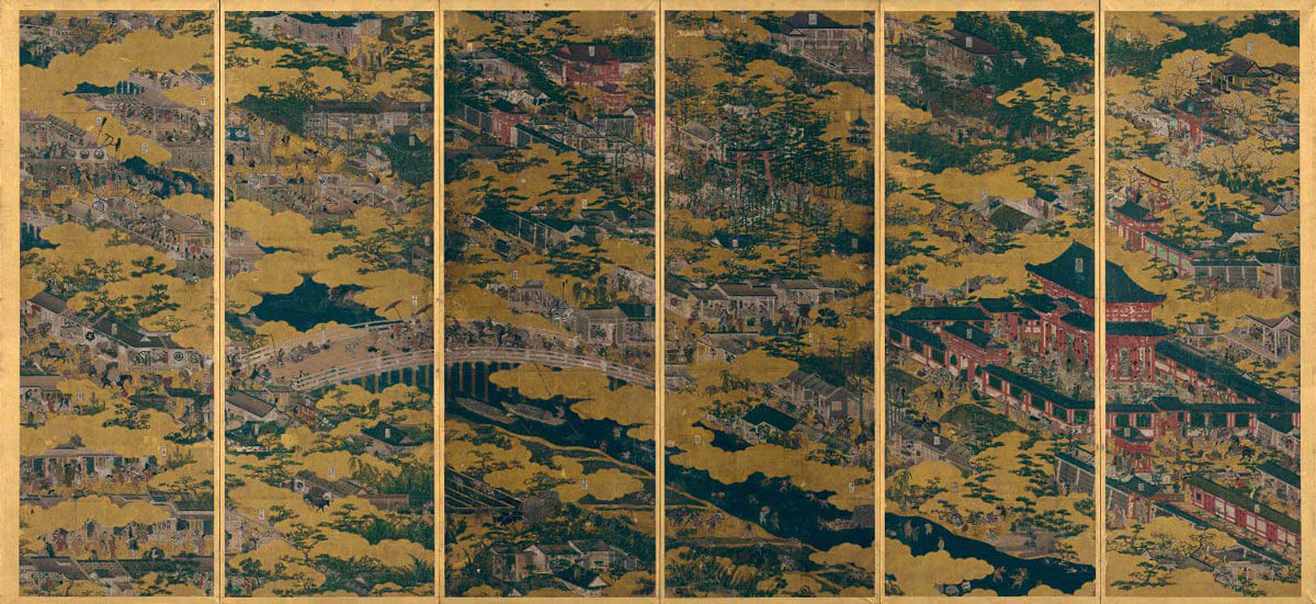 洛中洛外図屏風 舟木本 右隻  岩佐又兵衛筆 江戸時代・17世紀