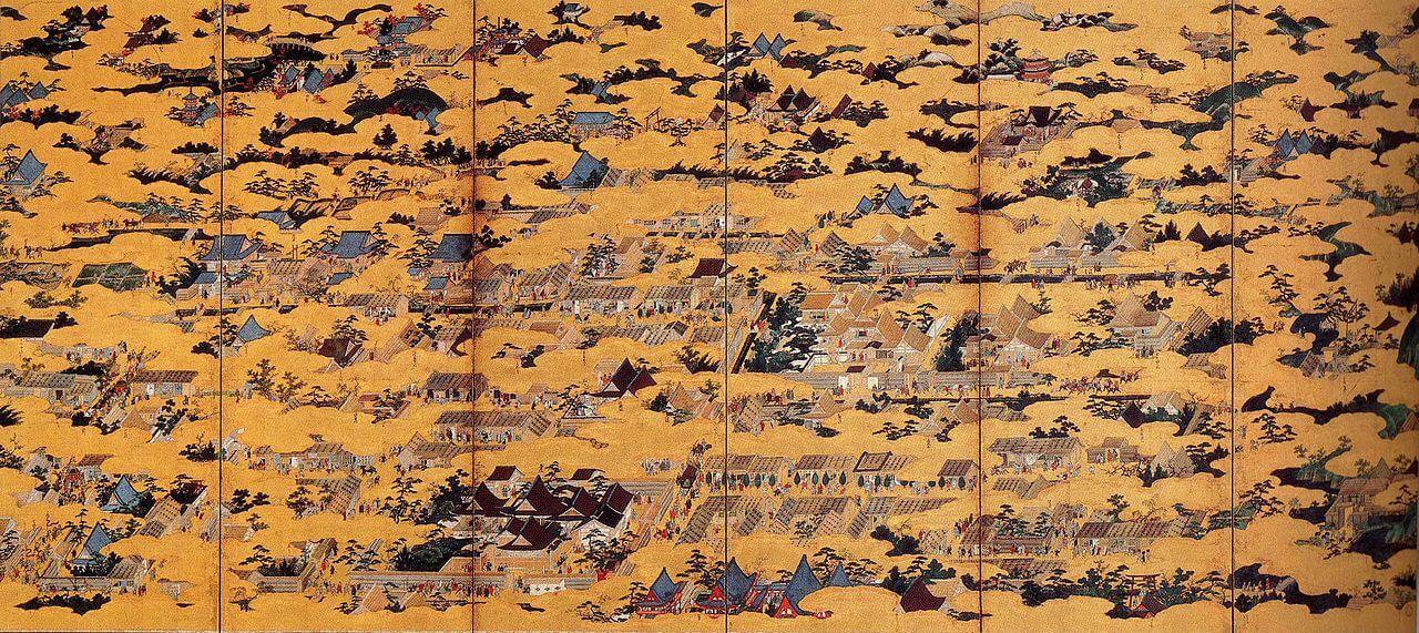 [国宝] 洛中洛外図屏風 上杉本 左隻  狩野永徳筆 室町時代・16世紀