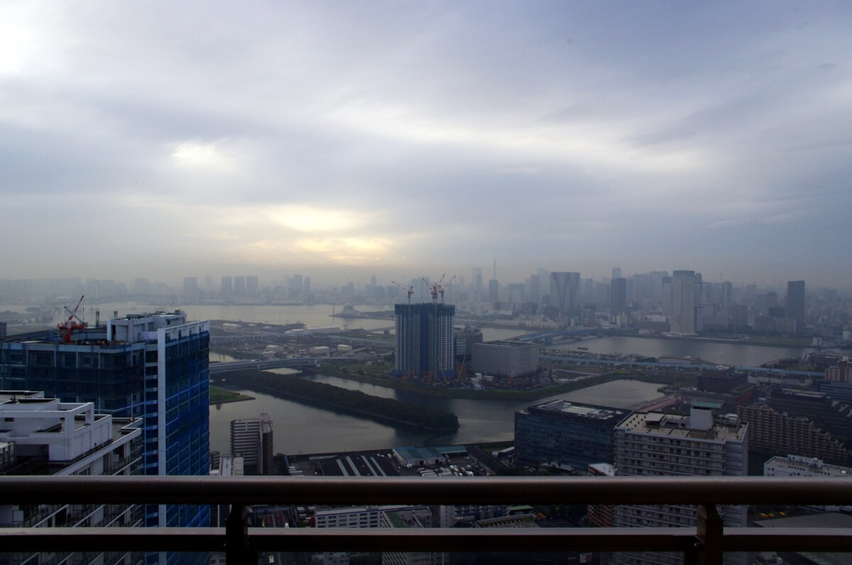 東雲53階から見る湾岸エリア