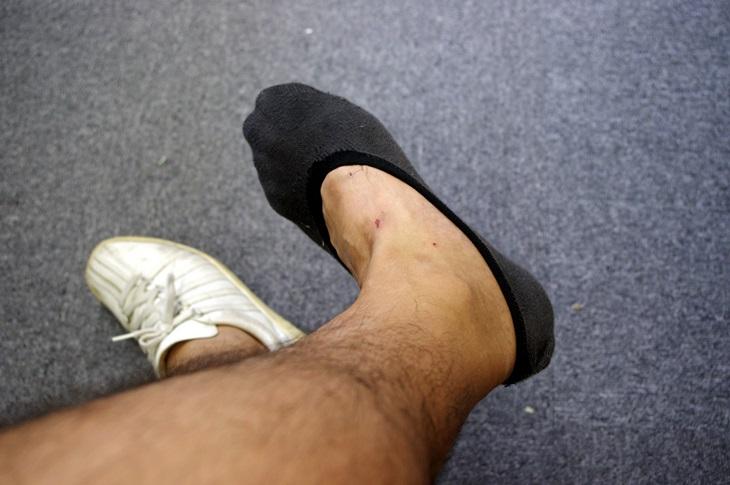 ユニクロのベリーショット靴下