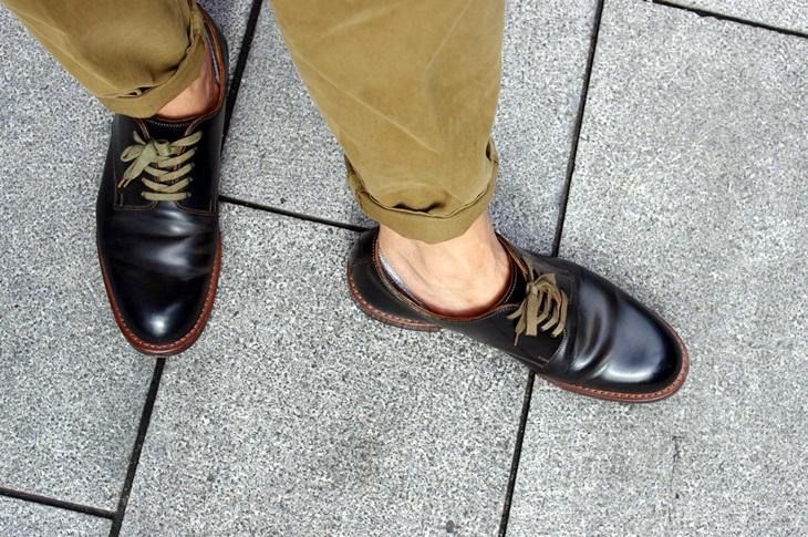 B.C STOCK INSTEP ローファーMIX ベリーショート靴下 & MOTO コードバンプレーントゥ