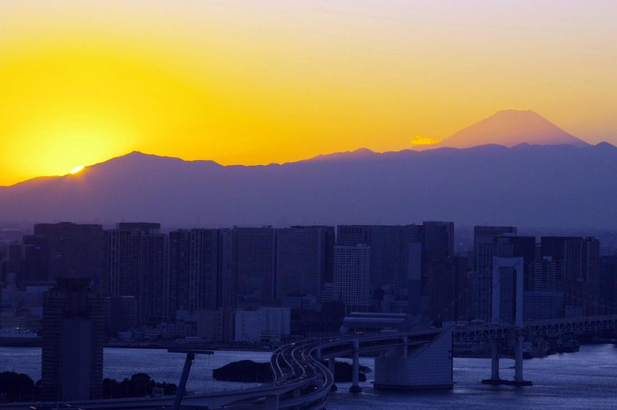 夕暮れの富士山 Mount Fuji (3)
