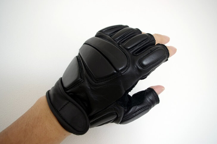 S&Graf COBRA BALL US.SWATタクティカル革グローブ(フィンガーレス手袋) (1)