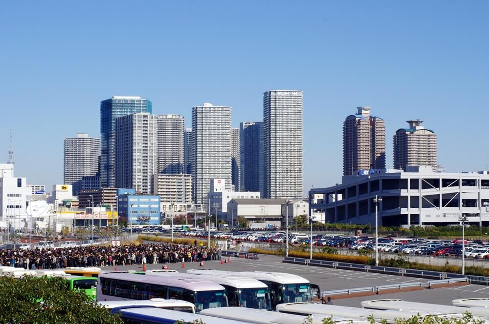 東京国際展示場から見る東雲