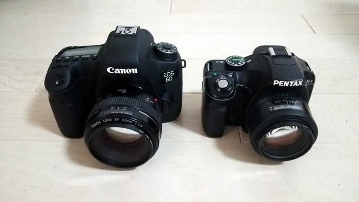 キャノン&ペンタックス CANON EOS 6D PENTAX k-x 2