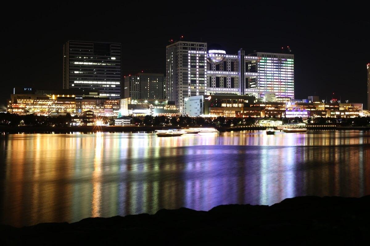 お台場海浜公園の夜景(1)