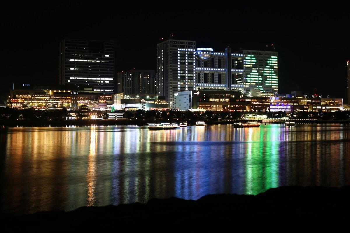 お台場海浜公園の夜景 (2)