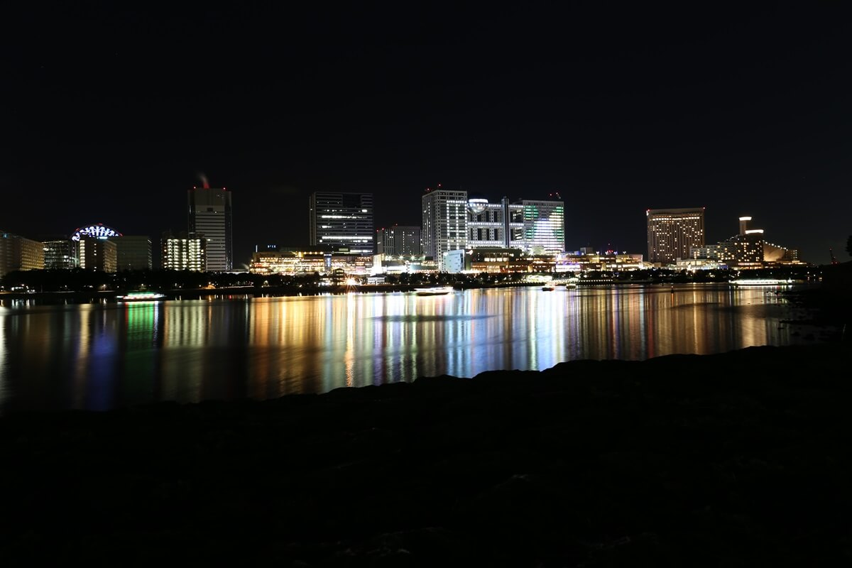 お台場海浜公園の夜景 (3)