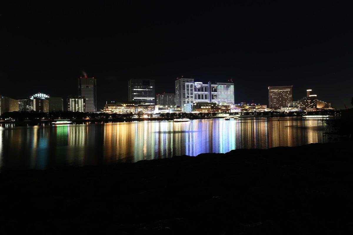 お台場海浜公園の夜景 (4)