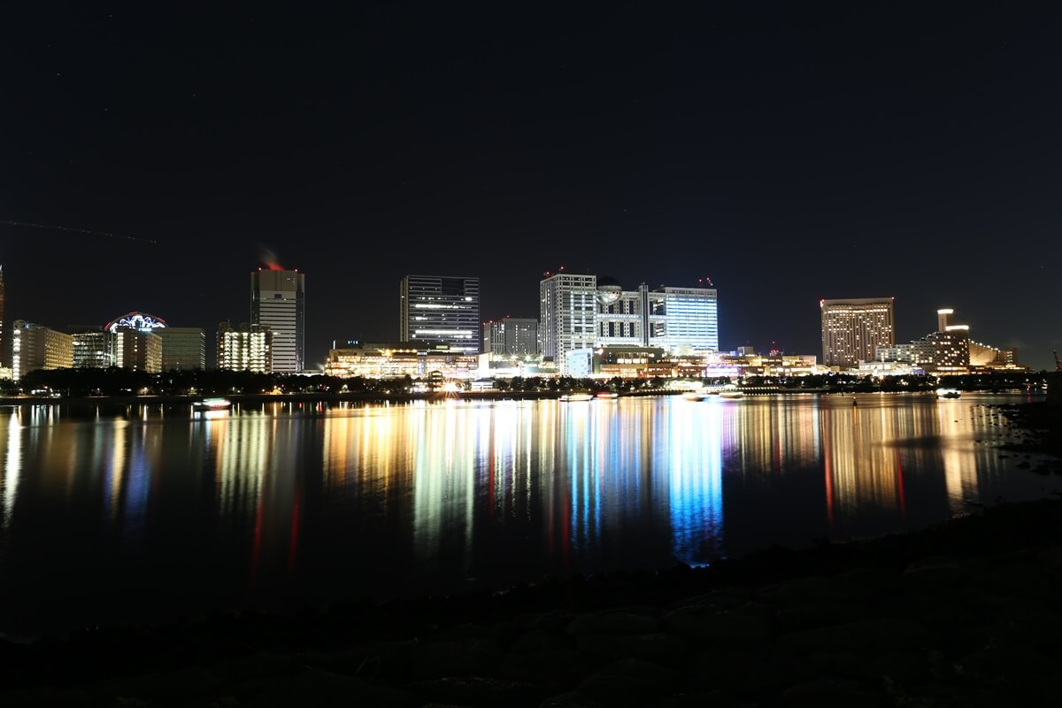 お台場海浜公園の夜景 (7)