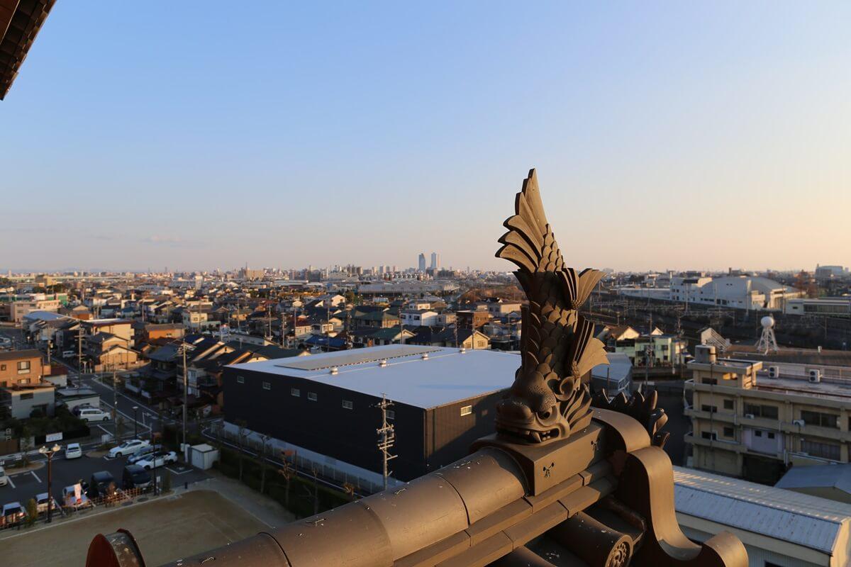 清州城 天守閣屋上から (10)