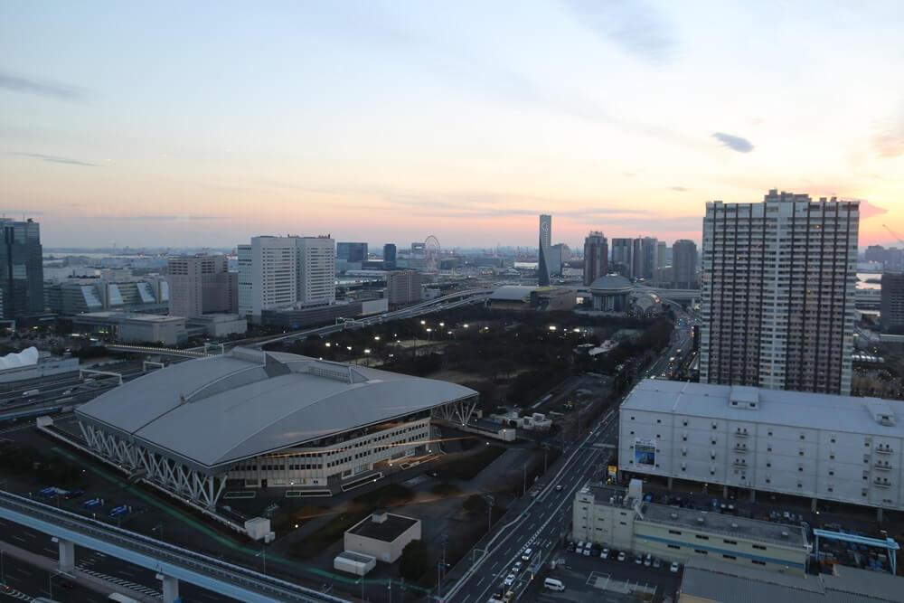 オリゾンマーレ 27Fラウンジから眺める東京湾 (3)