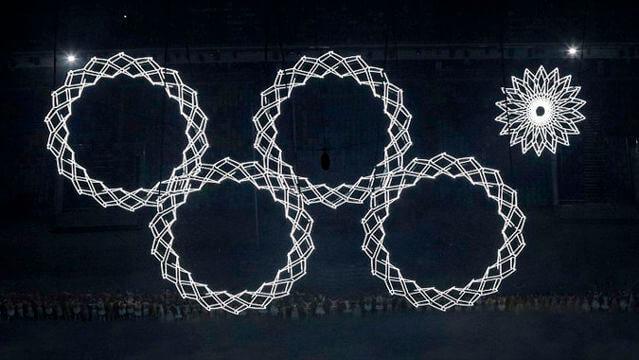 ソチオリンピック開幕 五輪マーク