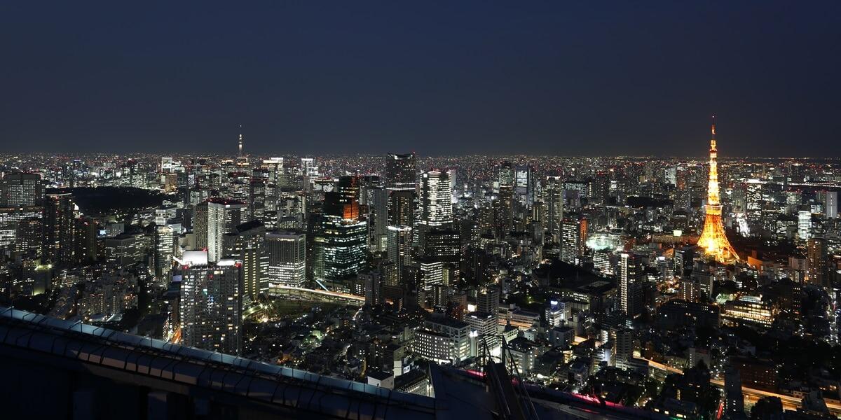 六本木ヒルズ 屋上スカイデッキからの夜景 night view of roppongi hills sky deck (11)