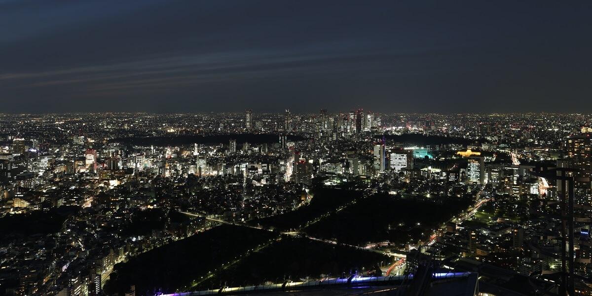 六本木ヒルズ 屋上スカイデッキからの夜景 night view of roppongi hills sky deck (12)