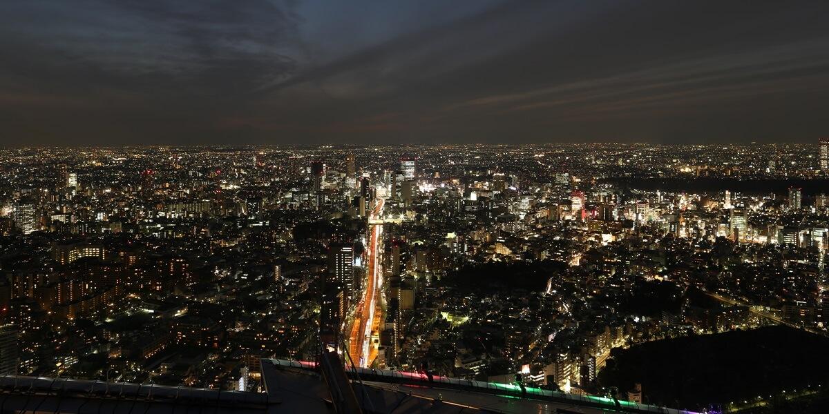 night view of roppongi hills sky deck (13)