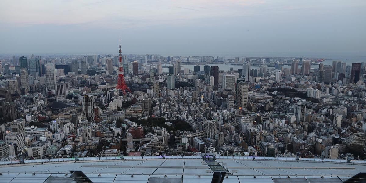 六本木ヒルズ 屋上スカイデッキからの夜景 night view of roppongi hills sky deck (2)