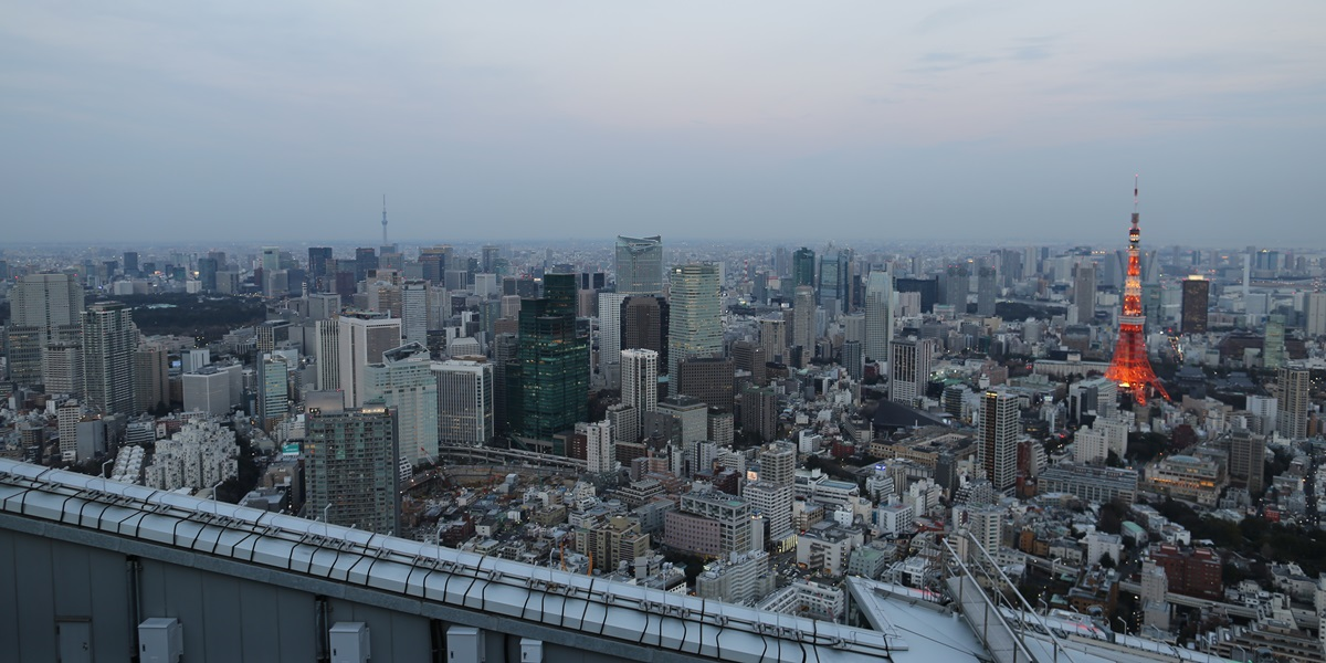六本木ヒルズ 屋上スカイデッキからの夜景 night view of roppongi hills sky deck (4)