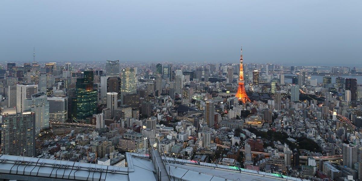 六本木ヒルズ 屋上スカイデッキからの夜景 night view of roppongi hills sky deck (6)